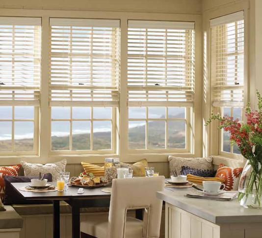 kitchen wooden window blinds