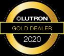 Lutron Gold Dealer 2020 logo